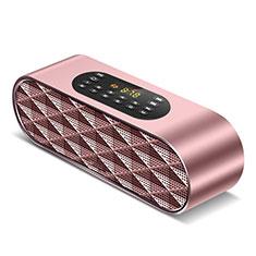 Mini Haut Parleur Enceinte Portable Sans Fil Bluetooth Haut-Parleur K03 pour Apple iPad Mini 5 2019 Or Rose