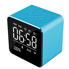 Mini Haut Parleur Enceinte Portable Sans Fil Bluetooth Haut-Parleur K08 pour Sony Xperia XZ1 Bleu