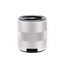 Mini Haut Parleur Enceinte Portable Sans Fil Bluetooth Haut-Parleur K09 pour Apple iPad Mini 5 2019 Argent