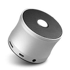 Mini Haut Parleur Enceinte Portable Sans Fil Bluetooth Haut-Parleur S04 pour Huawei Enjoy 9 Plus Argent