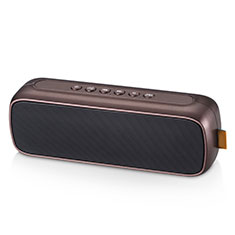 Mini Haut Parleur Enceinte Portable Sans Fil Bluetooth Haut-Parleur S09 pour Apple iPad New Air 2019 10.5 Marron