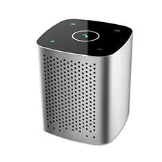 Mini Haut Parleur Enceinte Portable Sans Fil Bluetooth Haut-Parleur S10 pour Orange Rise 30 Argent