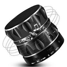 Mini Haut Parleur Enceinte Portable Sans Fil Bluetooth Haut-Parleur S13 pour Sony Xperia XZ2 Compact Noir