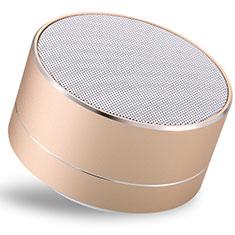 Mini Haut Parleur Enceinte Portable Sans Fil Bluetooth Haut-Parleur S24 pour Nokia 3.1 Plus Or