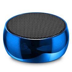 Mini Haut Parleur Enceinte Portable Sans Fil Bluetooth Haut-Parleur S25 pour Huawei Enjoy 9 Plus Bleu