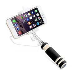 Perche de Selfie Filaire Baton de Selfie Cable Extensible de Poche Universel S01 pour Huawei P Smart 2019 Noir