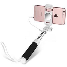 Perche de Selfie Filaire Baton de Selfie Cable Extensible de Poche Universel S02 pour Huawei P Smart 2019 Noir
