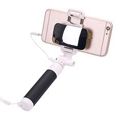 Perche de Selfie Filaire Baton de Selfie Cable Extensible de Poche Universel S04 pour Google Pixel 3 Noir