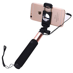 Perche de Selfie Filaire Baton de Selfie Cable Extensible de Poche Universel S04 pour Huawei Honor Magic 2 Or Rose