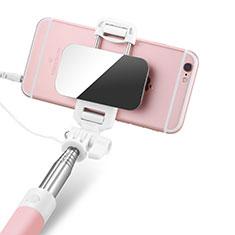 Perche de Selfie Filaire Baton de Selfie Cable Extensible de Poche Universel S05 pour Google Pixel 3 Rose