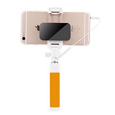 Perche de Selfie Filaire Baton de Selfie Cable Extensible de Poche Universel S07 pour Huawei P Smart 2019 Jaune