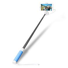 Perche de Selfie Filaire Baton de Selfie Cable Extensible de Poche Universel S10 pour Google Pixel 3 Bleu Ciel