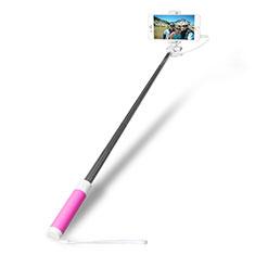 Perche de Selfie Filaire Baton de Selfie Cable Extensible de Poche Universel S10 pour Google Pixel 3 Rose