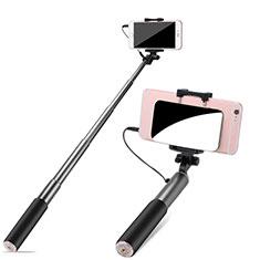 Perche de Selfie Filaire Baton de Selfie Cable Extensible de Poche Universel S11 pour Huawei P Smart 2019 Gris