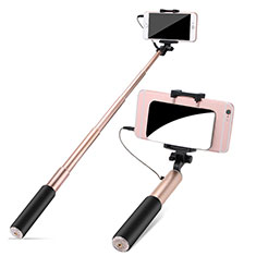 Perche de Selfie Filaire Baton de Selfie Cable Extensible de Poche Universel S11 pour Huawei Honor Magic 2 Or