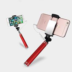 Perche de Selfie Filaire Baton de Selfie Cable Extensible de Poche Universel S20 pour Huawei P Smart 2019 Rouge