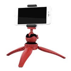 Perche de Selfie Trepied Sans Fil Bluetooth Baton de Selfie Extensible de Poche Universel T09 pour Wiko Cink Five Rouge