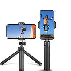 Perche de Selfie Trepied Sans Fil Bluetooth Baton de Selfie Extensible de Poche Universel T12 Noir