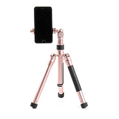 Perche de Selfie Trepied Sans Fil Bluetooth Baton de Selfie Extensible de Poche Universel T15 pour Orange Neva 80 4g Or Rose