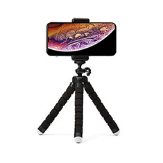 Perche de Selfie Trepied Sans Fil Bluetooth Baton de Selfie Extensible de Poche Universel T16 Noir