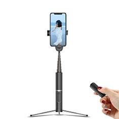 Perche de Selfie Trepied Sans Fil Bluetooth Baton de Selfie Extensible de Poche Universel T20 Noir