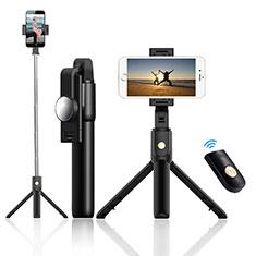 Perche de Selfie Trepied Sans Fil Bluetooth Baton de Selfie Extensible de Poche Universel T22 Noir