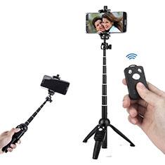 Perche de Selfie Trepied Sans Fil Bluetooth Baton de Selfie Extensible de Poche Universel T24 Noir