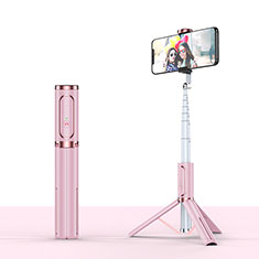 Perche de Selfie Trepied Sans Fil Bluetooth Baton de Selfie Extensible de Poche Universel T26 pour Orange Neva 80 4g Or Rose