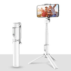 Perche de Selfie Trepied Sans Fil Bluetooth Baton de Selfie Extensible de Poche Universel T28 pour HTC 8X Windows Phone Blanc