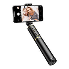 Perche de Selfie Trepied Sans Fil Bluetooth Baton de Selfie Extensible de Poche Universel T34 pour Apple iPhone 12 Or et Noir
