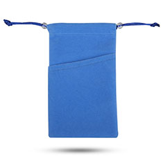 Pochette Velour Etui Universel pour Huawei Honor Magic 2 Bleu
