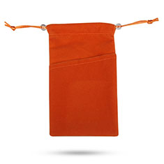 Pochette Velour Housse Universel pour Xiaomi Mi Play 4G Orange