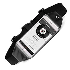 Sacs Banane Ceinture de Course Reglable Etanche Universel pour Blackberry Leap Noir
