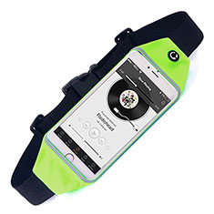 Sacs Banane Ceinture de Course Reglable Etanche Universel pour Blackberry Leap Vert
