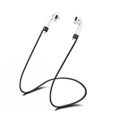 Sangle de Sport Silicone Cable Anti-Perdu C01 pour Apple AirPods Noir