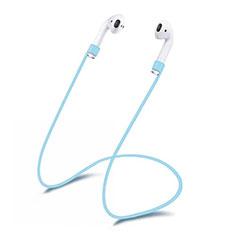 Sangle de Sport Silicone Cable Anti-Perdu C03 pour Apple AirPods Pro Bleu Ciel