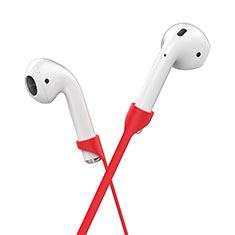 Sangle de Sport Silicone Cable Anti-Perdu C03 pour Apple AirPods Rouge