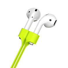 Sangle de Sport Silicone Cable Anti-Perdu pour Apple AirPods Pro Vert