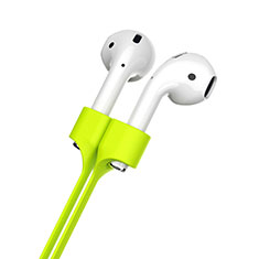 Sangle de Sport Silicone Cable Anti-Perdu pour Apple AirPods Vert