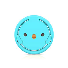 Support Bague Anneau Support Telephone Magnetique Universel H18 pour Huawei Honor WaterPlay 10.1 HDN-W09 Bleu Ciel