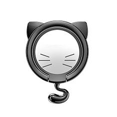Support Bague Anneau Support Telephone Magnetique Universel S03 pour Samsung S5230 Tocco Lite Argent et Noir