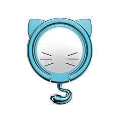 Support Bague Anneau Support Telephone Magnetique Universel S03 pour Samsung S5230 Tocco Lite Bleu Ciel