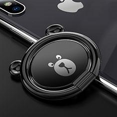 Support Bague Anneau Support Telephone Magnetique Universel S14 pour Oneplus 7 Noir