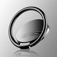 Support Bague Anneau Support Telephone Magnetique Universel Z16 pour Oneplus 7 Noir