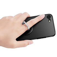 Support Bague Anneau Support Telephone Universel R01 pour Huawei Enjoy 8e Lite Noir