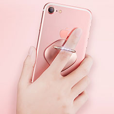 Support Bague Anneau Support Telephone Universel R03 pour Huawei P Smart 2019 Or Rose