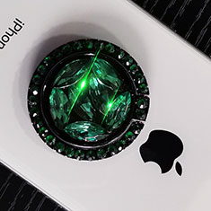 Support Bague Anneau Support Telephone Universel S16 pour Huawei P Smart 2019 Vert