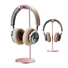 Support Casque Ecouteur Cintre Universel H01 pour Huawei Enjoy 9 Plus Or Rose