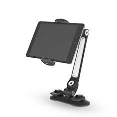Support de Bureau Support Tablette Flexible Universel Pliable Rotatif 360 H02 pour Samsung Galaxy Tab S 10.5 LTE 4G SM-T805 T801 Noir