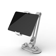 Support de Bureau Support Tablette Flexible Universel Pliable Rotatif 360 H02 pour Samsung Galaxy Tab S 10.5 SM-T800 Blanc